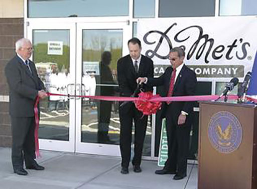 DeMet's Candy Company ribbon cutting, May 2009. DeMet's makes Turtles Candy and Flipz Pretzels.