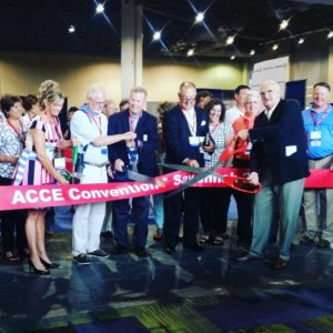 This year's ribbon cutting ceremony was such a fun way to open the exhibit hall! [Photo via Sherry Taylor, @SherryRatcliffe, Twitter]