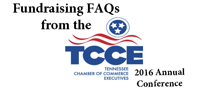 Fundraising FAQ's from the TCCE 2016 Conference
