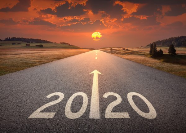 New Year 2020 road