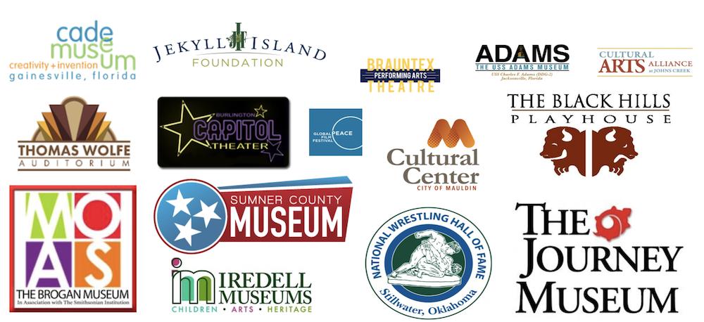 Convergent Nonprofit Solutions Arts and Culture nonprofit client logos