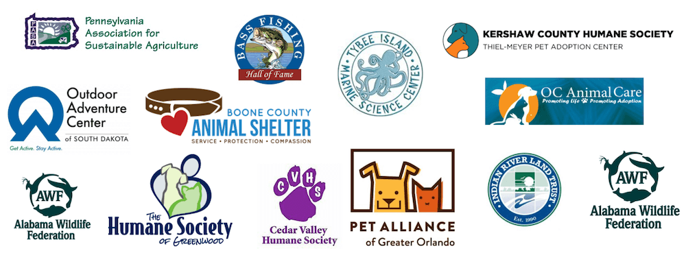 Convergent Nonprofit Solutions Environmental and Animal Services nonprofit client logos