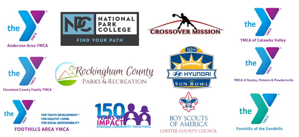 Convergent Nonprofit Solutions YMCA, Parks, and Rec nonprofit client logos