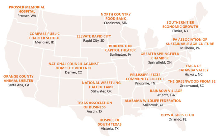 Map of US Clients